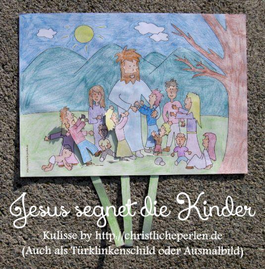 jesus segnet die kinder basteln  sonntagsschule basteln