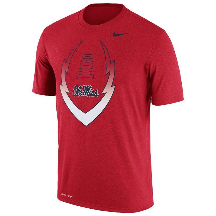 Men's Nike Ole Miss Rebels Legend Football Icon Dri-FIT Tee, Size: Medium, Multicolor