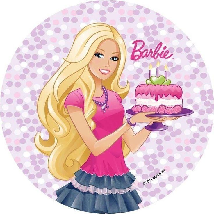 Картинка с барби на торт