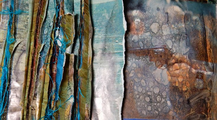 """""""Voilence tears us apart""""  stitched and sewn, torn and altered papers, recycled silk, altered photo by Geskea Andriessen - 2015 facebook.com/degroeneuil - www.geskea.com"""