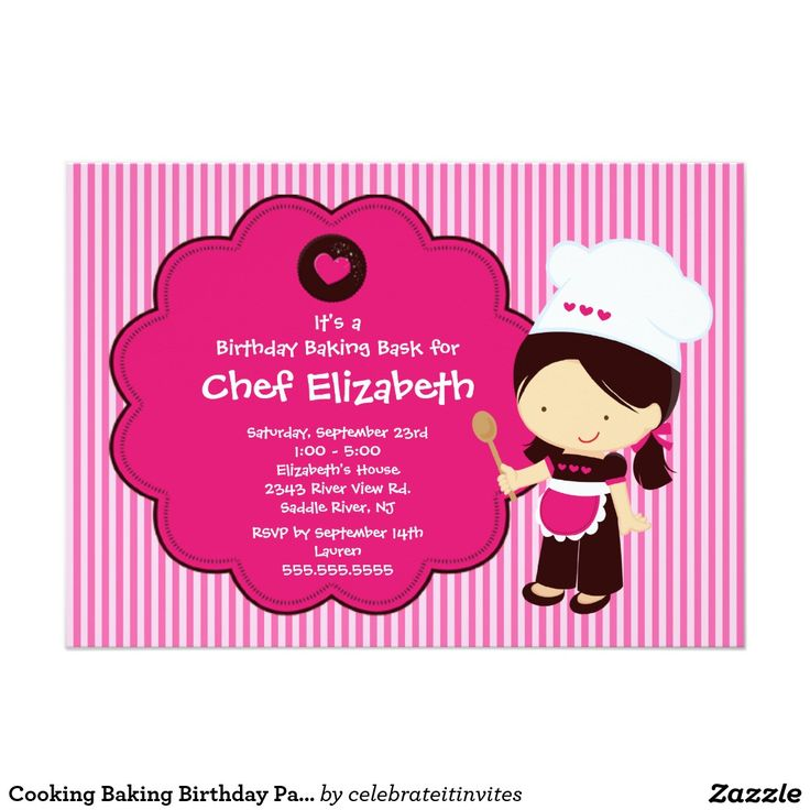 32 best Cooking Birthday Party images on Pinterest | Cooking ...