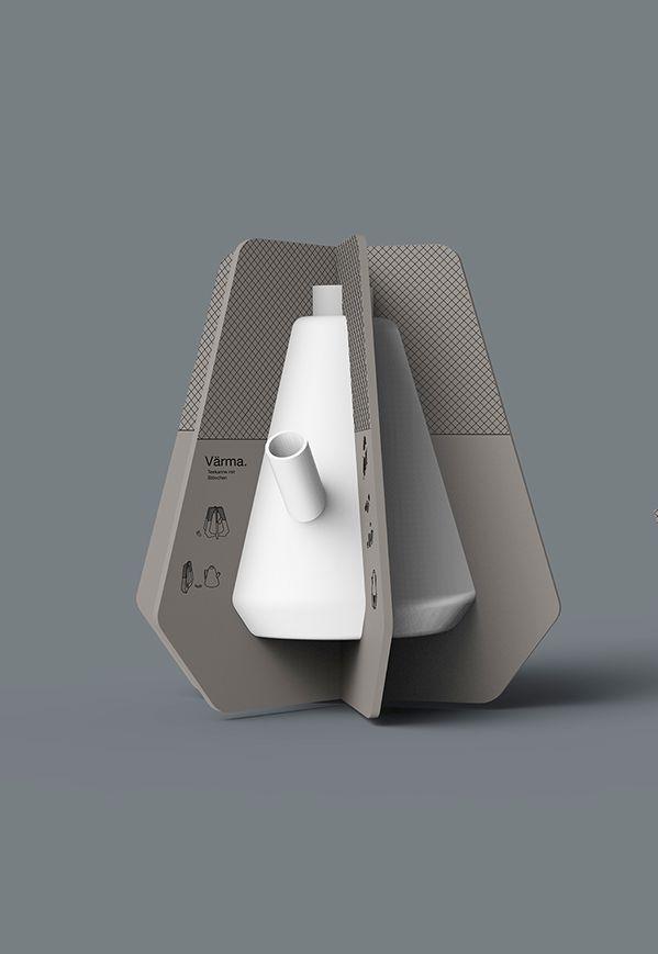 Värma Tea Pot Packaging (Student Project) by Jara Freund