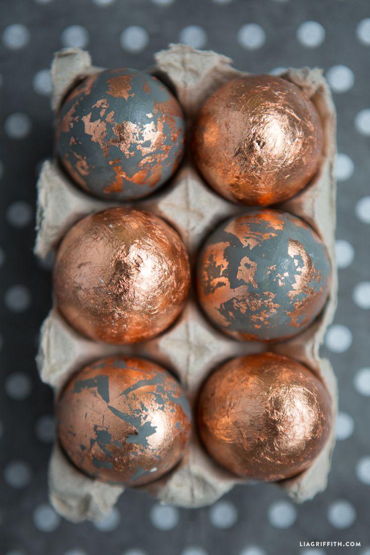 Make Foiled Copper Eggs for Easter