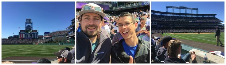 2nd row seats at the Colorado Rockies game this weekend! Congrats to James on being selected to attend with CEO, Dan!  #Rockies #Recognition #Reward
