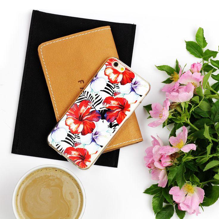 Motyw egzotycznych kwiatów na etui do telefonu: http://www.etuo.pl/etui-na-telefon-kolekcja-fruits-and-tropical-egzotyczne-kwiaty.html #case #tropical #falt #lay #photography #etuo