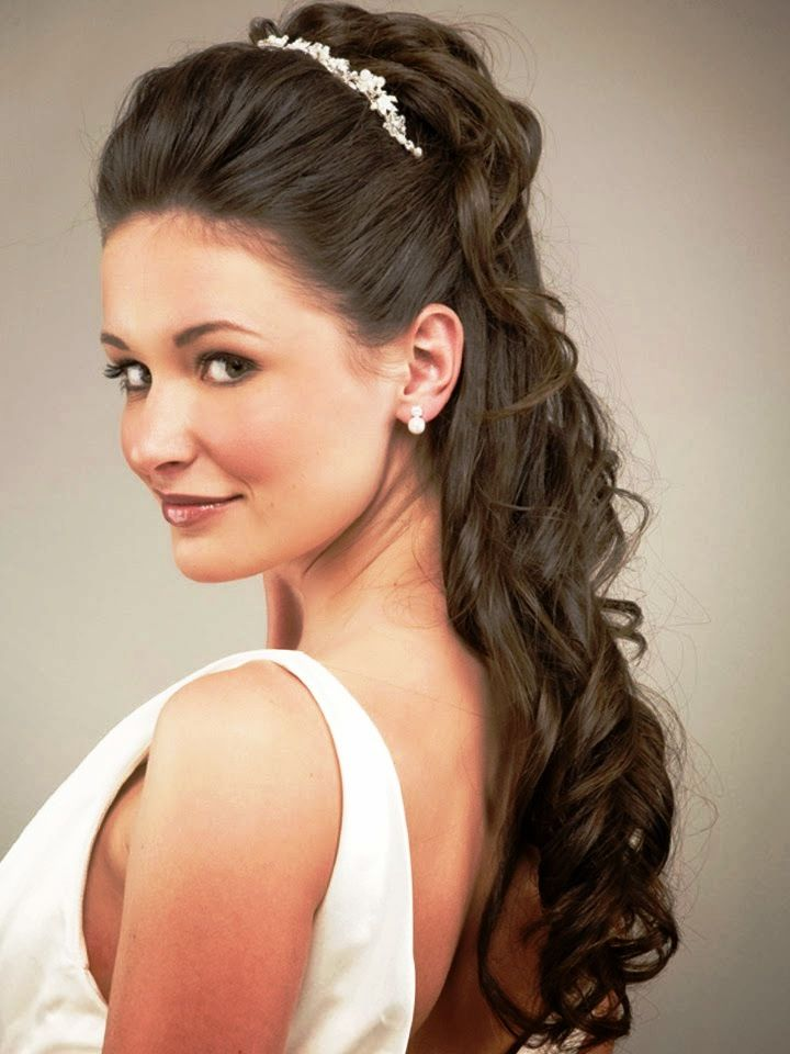 Curly Hairstyles For Long Hair For Wedding : 94 best wedding hairstyles images on pinterest