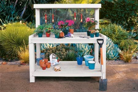 How to Build a Potting Bench...I think I could do this!