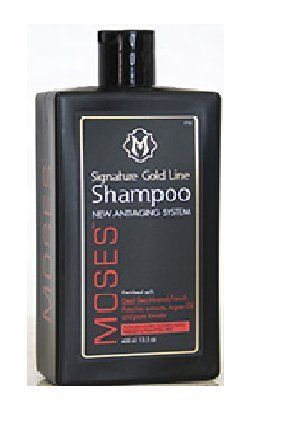 Product review for Moses Anti-Aging Shampoo  - Formula infused with authentic natural oil, pure flower extract, argan oil, pure keratin, bio restorative complex and much more. Nourishes and strengthens the hair cuticle from the inside out. Dermatologist tested formula, without paraben, sulfates color and keratin treatment safe. This product,...