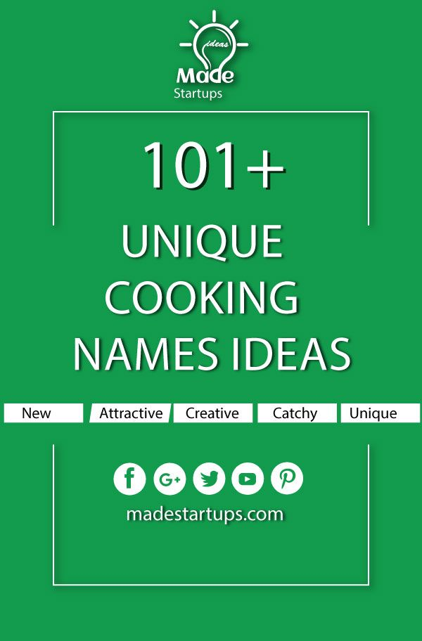 101 Unique Cooking Names Ideas For Your Business Real Estate Company Names Medical Business Investment Companies