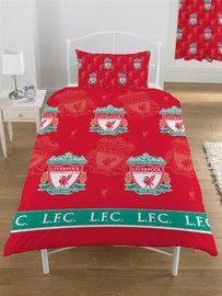 Liverpool Multi Crest Quilt Cover, is ideal for when baby grows big enough to go into a bed and wants to show how tiny supporters can accessorize their bedrooms, see other Liverpool soccer souvenirs at Soccer Box  http://www.soccerbox.com/liverpool-football-shirts/liverpool-souvenirs/