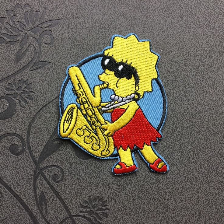 The Simpsons Patch Individuality Hat patches Cartoon patches Embroidered Iron-On Patches sew on patches