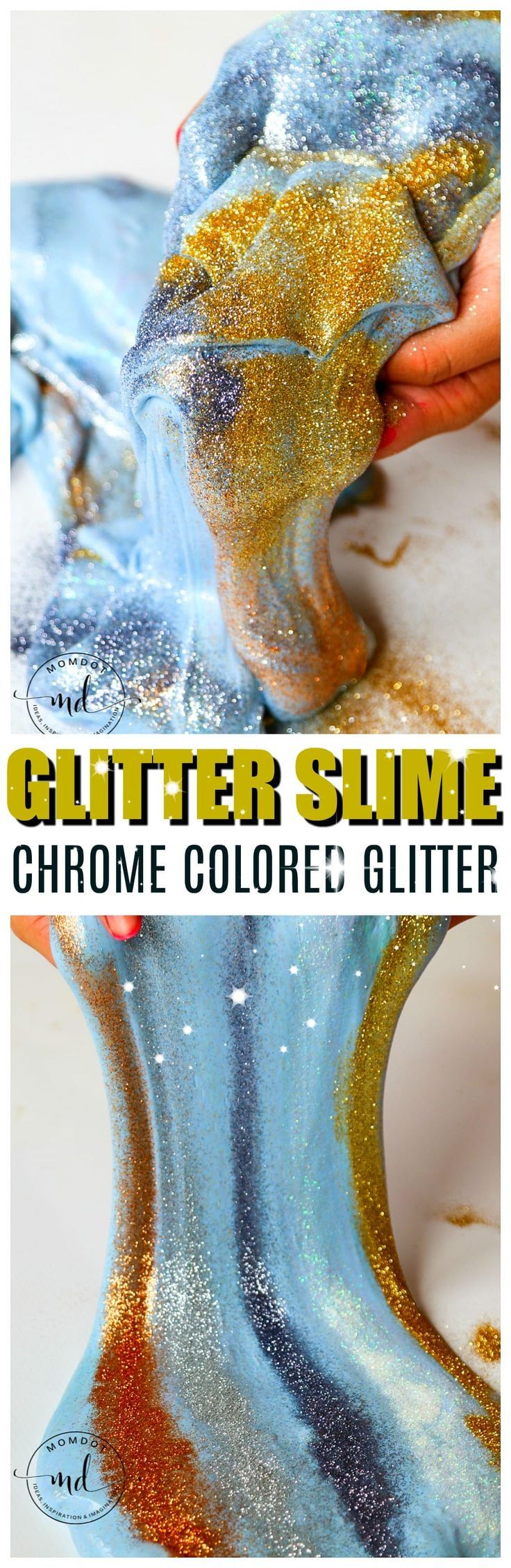 how to make slime with glitter glue without borax