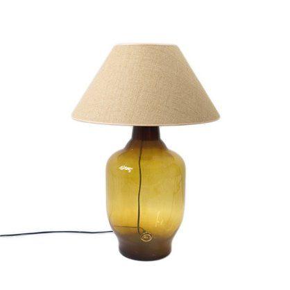 Lampa stołowa szklana 70, honey