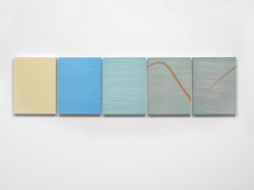 Mary Ramsden Untitled,2013 Oil on board 5 parts 40 x 30cm