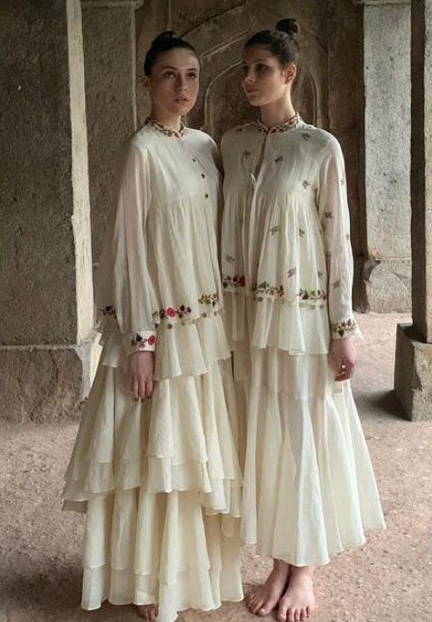 Beautiful Kurtis With Modern Silhouettes And Traditional Embellishments With Embroidery And Shape Fashion Stylish Dress Designs Indian Designer Outfits