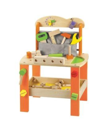 Wood Work Bench with Tools – Orange