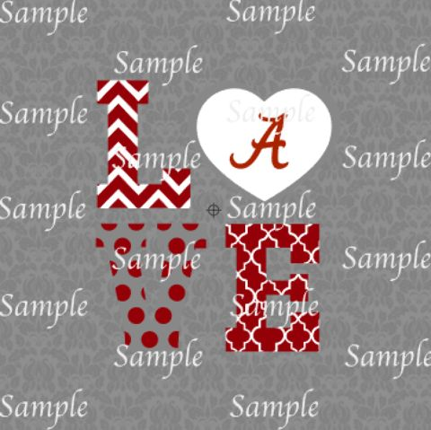 Download Love Alabama SVG, DXF, EPS, PNG Digital File | Silhouette ...