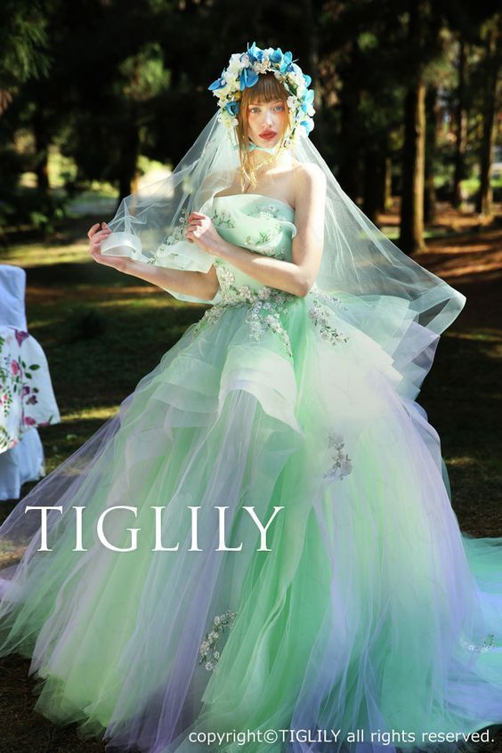 TIGLILY 2016 Spring/Summer Pandora Collection Alice in wonderland, fairytale wedding Girls' dream!!!!