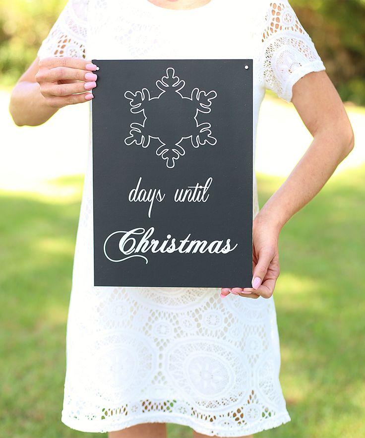 'Days Until Christmas' Chalkboard Sign