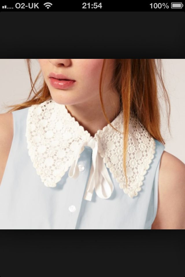 Omg, absolutely love this lace collar