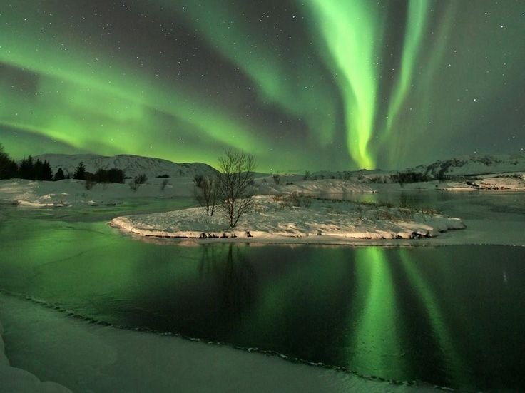 Aurora Borealis, as seen from Iceland