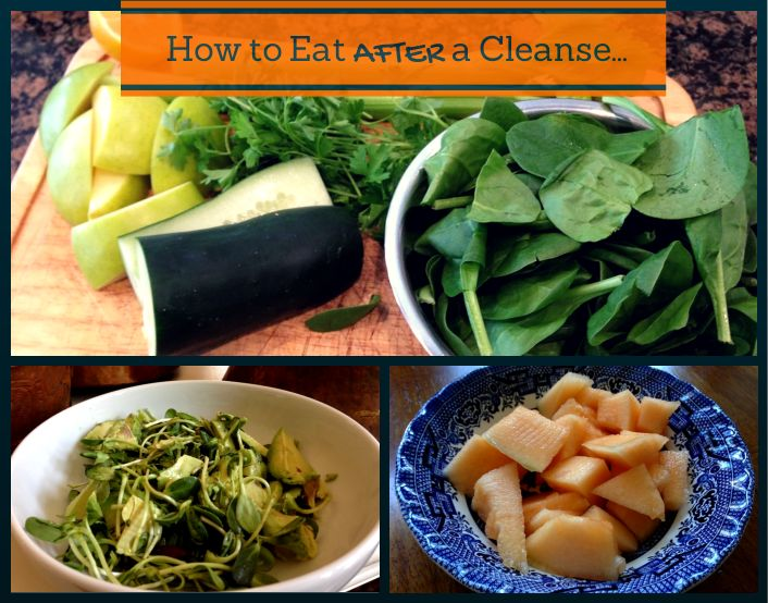 What to eat after a BluePrintCleanse detox cleanse.