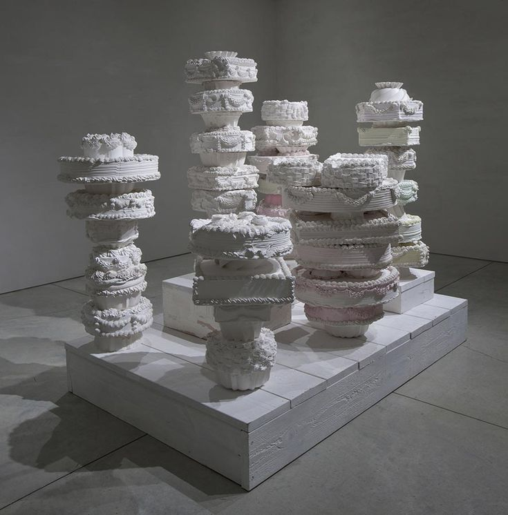 Will Cotton, Against Nature, 2012, plaster, wood and pigment, 74 x 48 x 75 inches. Courtesy of the artist and Mary Boone Gallery