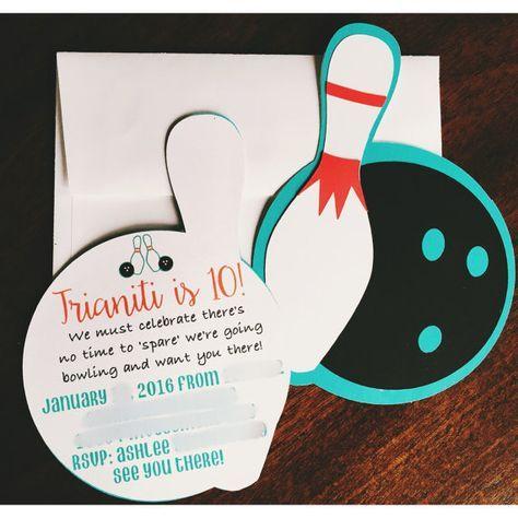 Bowling Invitation Bowling Party Bowling Party By FalcoClan ·  EinladungskartenEinladungenBowling PartyInvitations