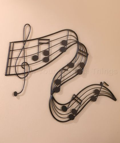 (1) METAL MUSICAL NOTES WALL ART MUSIC ROOM BAND MUSICIAN HOME BEDROOM DECOR