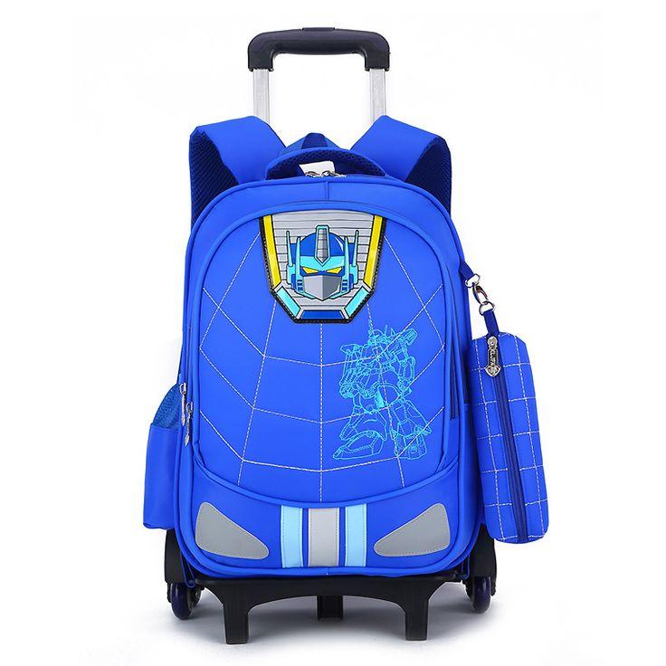 Children School Bag Fashion Boy Backpack Trolley Bag Kids Wheeled Bags Girls Backpack Mochila Infantil Com Rodinha Bolsos Escola