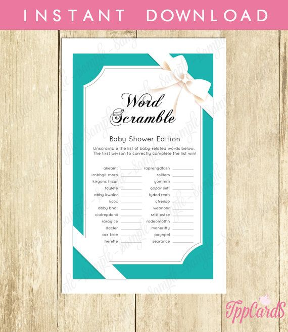 Baby and Co Baby Shower Word Scramble Game, Printable Instant Download, Baby Co…
