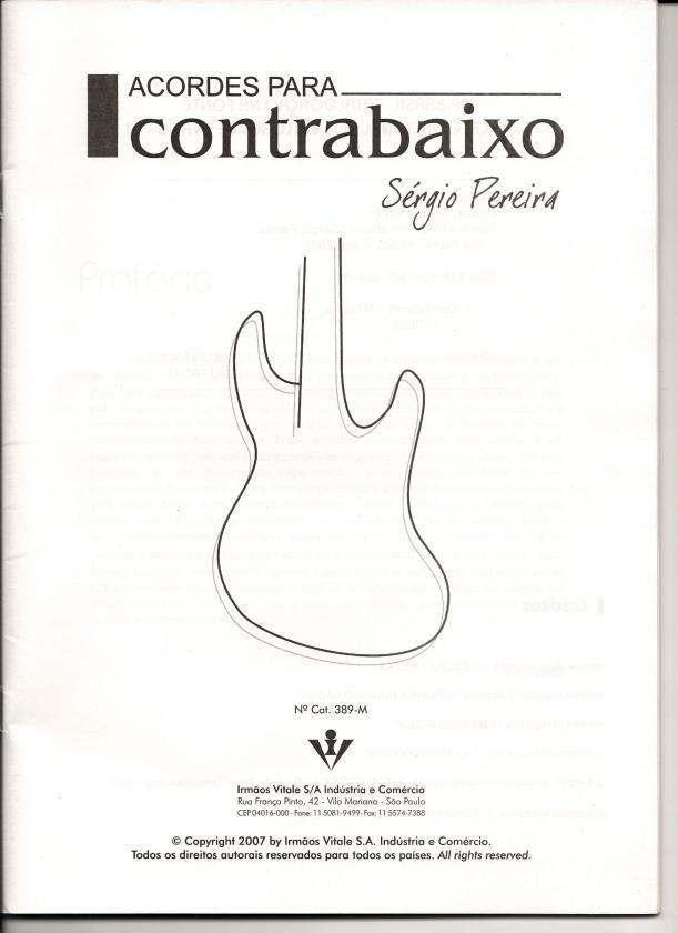 Acordes para Contrabaixo - Apostila Música