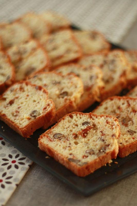 cake salé cantal noix tomates séchées