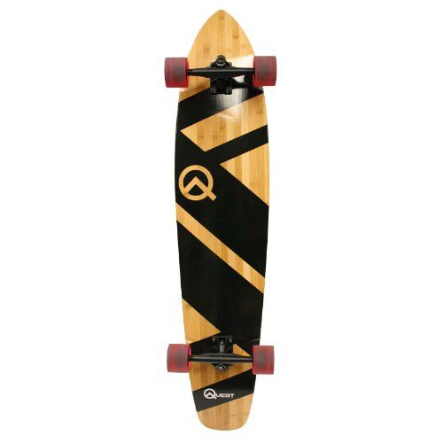 Amazon.com : Quest Super Cruiser Artisan Bamboo Longboard Skateboard (44-Inch) : Sports & Outdoors