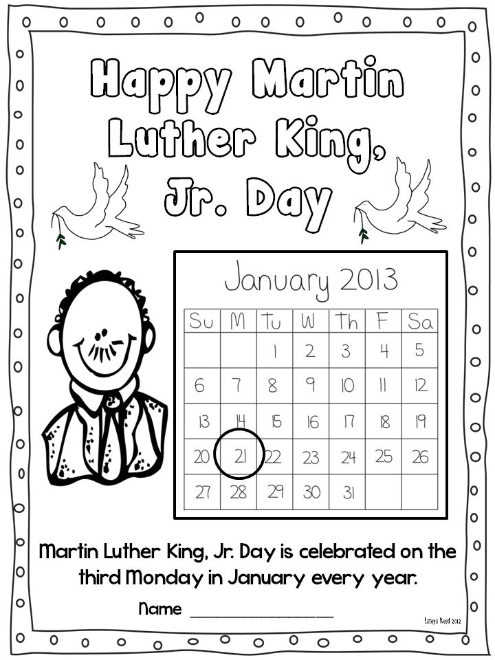 Martin King Printable Worksheets Free