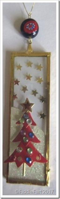 Christmas Tree Microscope Slide Decoration