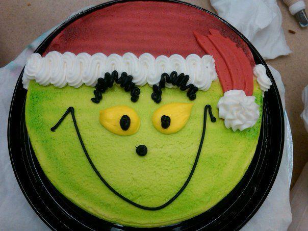 Grinch Christmas Cake. So fun! #food #Christmas #cake