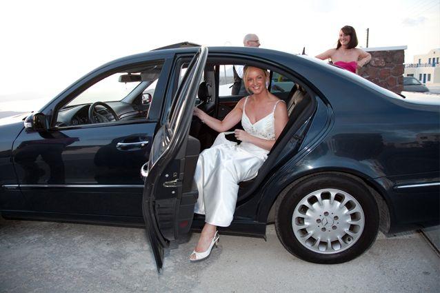 luxury #wedding #cars #Santorini weddings packages