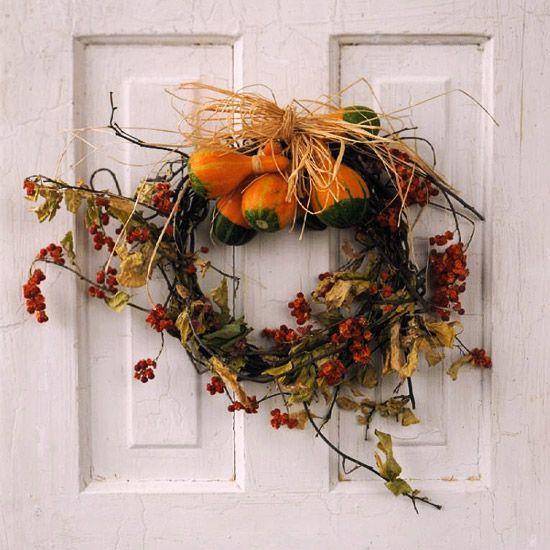 simple, natural fall wreath