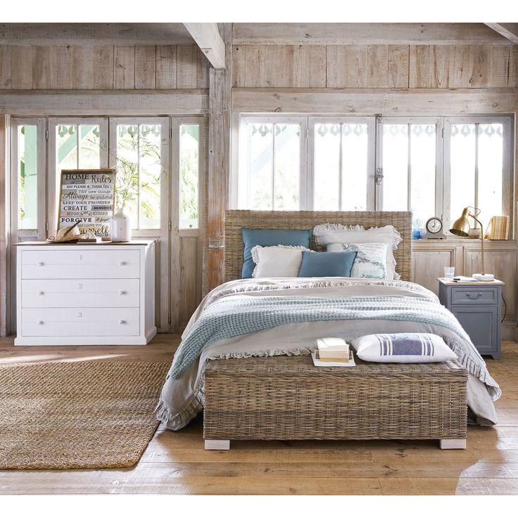 Tête de lit en rotin Kubu et mahogany massif L 160 cm | Maisons du Monde