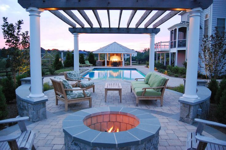 This is another wonderful looking pergola shade. People, who desire to have uniqueness in their pergola shades, can use this pergola plan for decorating. This wooden made pergola shade is making this pool surrounding a best place for seating in a beautiful environment.