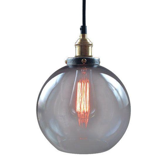 Kurze Retro Glas Kugel Anhänger Lampe Vintage Decke von GoPioneers