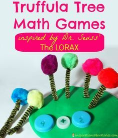 Truffula Tree Math Games Inspired by Dr. Seuss' The Lorax... adapt to a preschool level