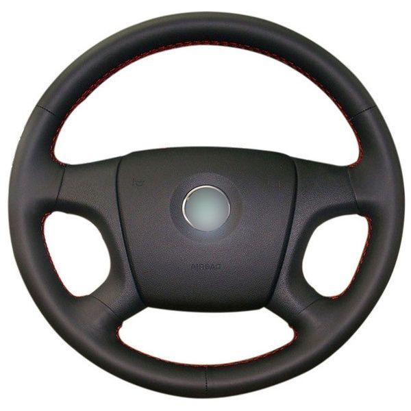 Leather Car Steering Wheel Cover V38001 For Old Skoda Octavia