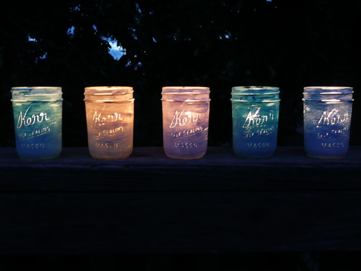 Wedding and Home Decor - painted shabby chic mason jar favors or lanterns - half pint via Etsy.: Paintings Mason Jars, Wedding, Painted Mason Jars, Mason Jars Favors, Decor Paintings, Home Decor, Mason Jar Favors, Chic Mason, Half Pints