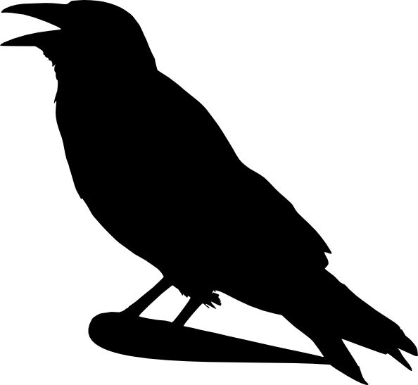 Raven+Pictures+Bird+Silhouette   Crow Silhouette clip art - vector clip art online, royalty free ...