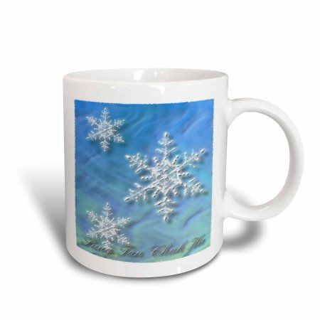 3dRose Sung Tan Chuk Ha, Merry Christmas in Korean, Snowflake , Ceramic Mug, 11-ounce