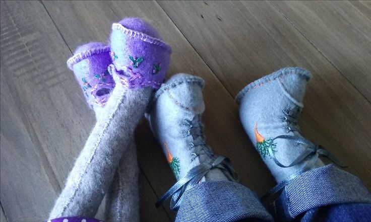 Anne Forster's embroidery work on Luna and Alfies shoes #cottondetail #coolcrafting #lunasbirthdaycompetition