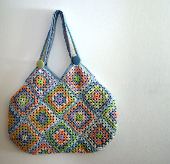 Crochet+granny+square+bag+by+knittingcate+on+Etsy