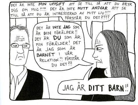 Bild ur Åsa Grennvalls seriebok